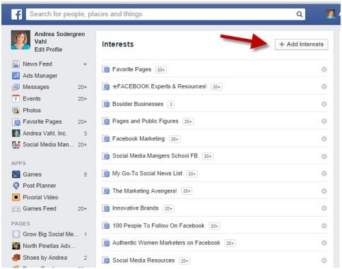 Facebook-interest